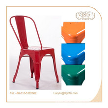 China, proveedor de estilo europeo, estilo rural, cafetería, silla lateral de metal