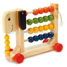 Brinquedo animal brinquedo de madeira contando ábaco