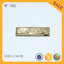 MC562 Small garment customized die cut metal tag