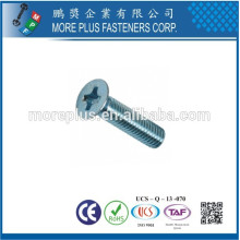 Feito em Taiwan Stainless Steel Phillips Drive Countersunk Head Machine Screws
