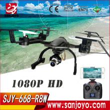 2017 más nuevo drone profesional con cámara 668-R8W RC Quadcopter 2.4G Wifi FPV Drone 5.0MP 1080 P cámara de alta calidad