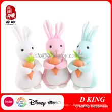 Пасха плюшевые игрушки продвижение подарок плюшевого зайца с морковкой Мягкая игрушка Зайчик