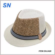 Nuevo sombrero de encargo del diseño con el sombrero 2014 de Panamá de la paja de la venda