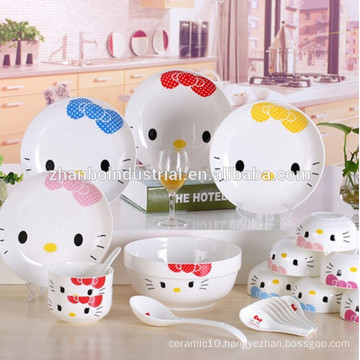 Hello kitty porcelain,hello kitty plate
