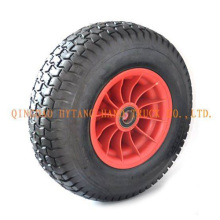 rubber wheel 4.00-8 with plastic rim