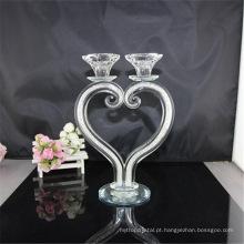 Fornecimento de fábrica atraente preço transparente decoração de casamento castiçais acessório