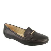 белый мягкий кожа женщины плоские туфли для полных дам