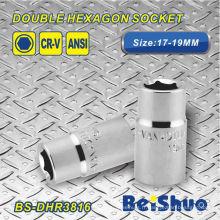 Double douille hexagonale 17-19mm BS-Dhr3816
