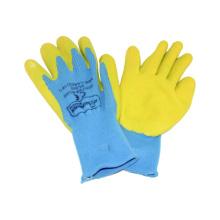 10g Nahtloser Terry gebürsteter Liner Latex beschichteter Falten-fertiger Handschuh