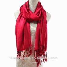TS-014 100% Viskose Pashmina Schal Mode Kleid einfarbig Viskose Schal Schal für Frau Hijab Fabrik Lieferant