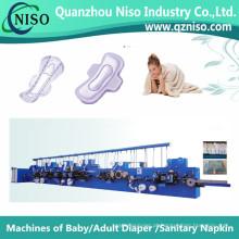 Máquina feminina de alta velocidade da almofada da higiene com GV (HY600-FC)