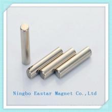 Неодимовый магнит постоянный цилиндра с никелевым покрытием