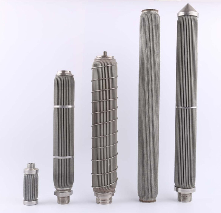Stainless Pleated filter elements offer