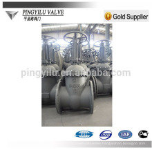 GOST pn16 flanged carbon steel water pipeline cuniform stem gate valve company