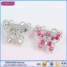 Guangzhou usine de gros de haute qualité strass papillon boucles d'oreilles