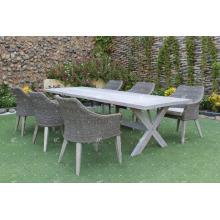 Conjunto luxuoso de jantar de design para jardim ao ar livre