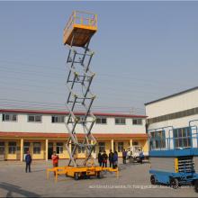 Élévateur à ciseaux mobile hydraulique de haute qualité