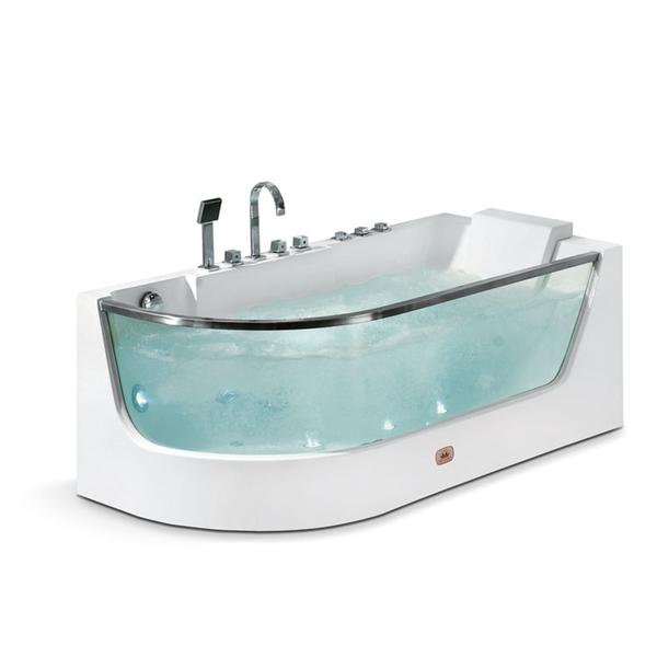 Rectangle Acrylic Glass Indoor Bathtub