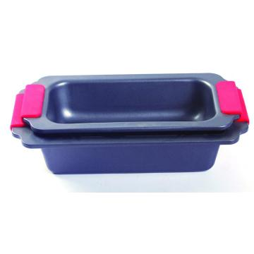Silicone grip loaf pan