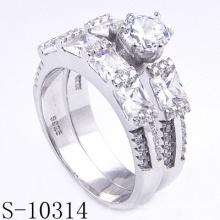 Neue Styles 925 Silber Modeschmuck Hochzeit Ring (S-10314 JPG)