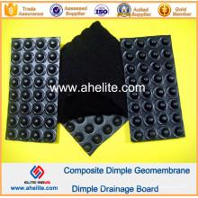 Membrane imperméable de drainage de HDPE avec le géotextile non tissé