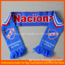 Cheap Customized Acrylic Knitted Soccer Scarf