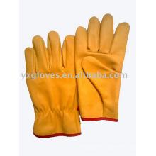 Guante de cuero guante de conductor guante de trabajo guante de seguridad