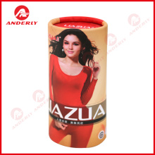 Manufacturing Companies for T-Shirt Round Packaging Custom Logo Printing Paper Tube For Clothes Packaging export to Russian Federation Importers