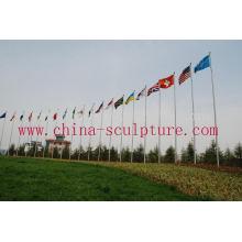 Flagpole del acero inoxidable con alta calidad para la venta