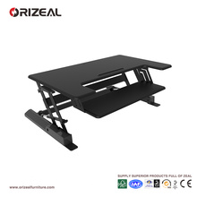 Orizeal adjustable height desktop computer stand, sit to stand computer desktop station (OZ-OSDC005)