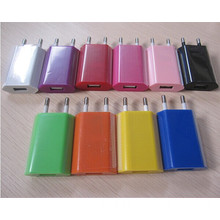 Wholesale Colorful EU Plug AC Mini USB Wall Charger for e-cig /ipad/iphone ( OEM/ODM)