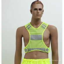 Sports Safety Vest Made of Yellow Mesh Fabric 62cm*62cm, Factory in Ningbo, China