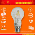 Nuevo producto! 6W claro filamento LED bombilla E27 CE ROHS calidad