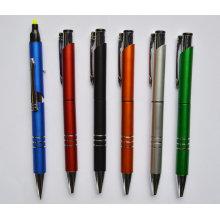 Le stylo à bille 2 en 1 Promotion avec surligneur Htf057