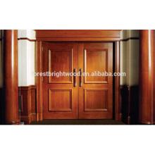 Porta de madeira cinzelada exterior da porta de entrada da resistência da tempestade