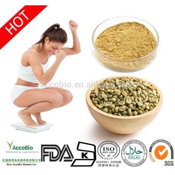 Натуральный зеленый кофе в зернах экстракт 50% Хлорогеновая кислота