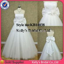 Echtes romantisches preiswertes Kleid weißes überlagertes Tullerock-Hochzeitskleider