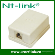 single rj45 rj11 surface box
