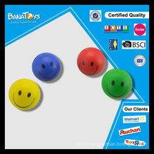 Hot sale pu ball toys for kids smile face soft vinyl ball