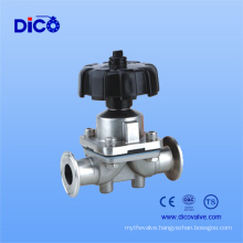 Stainless Steel Food End Diaphragm Valve with Clamp End