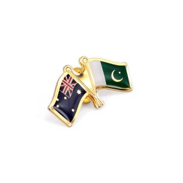 Значки национальных флагов, металлические булавки