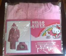 Casa de ropa de dormir de niños niño albornoz 100% algodón