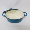Blauer Emaille Gusseisen Thermokasserolle Hot Pot / Geschirr / Kochgeschirr