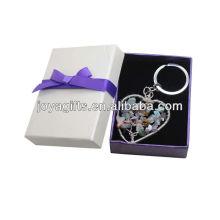 Chipstone en forme de coeur en tissu Lucky tree Pendentif Keychain avec boîte cadeau