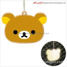 animal shaped  reflective safety keyring chain