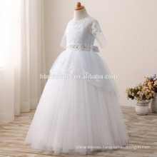 Kids princess flower baby girl wedding dress muslim wedding dress wholesale