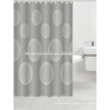 bathroom pothook ployester shower curtain with circle dot