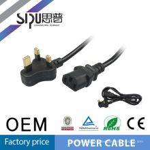 SIPU ac 3 pin 2.5a 250v power cord for kettle in south american