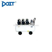 DT600H-65 preço de compressor de ar silencioso isento de óleo de cabeça tripla