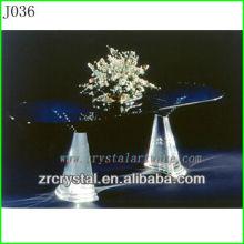 K9 Table en cristal noir avec pattes
